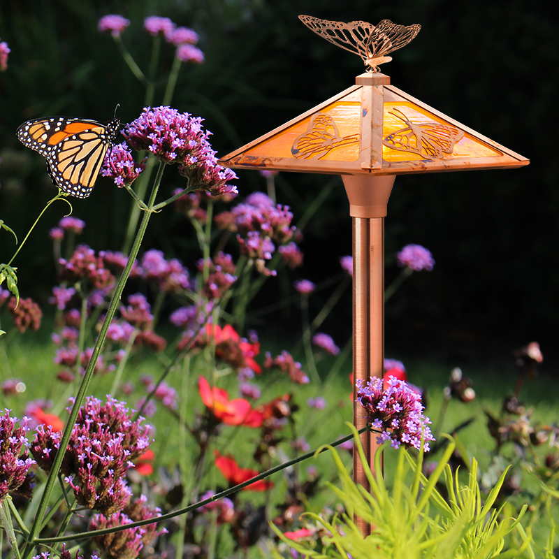 Butterfly path with finial