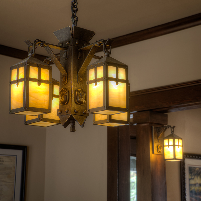 Monk Chandelier and Wall Sconce