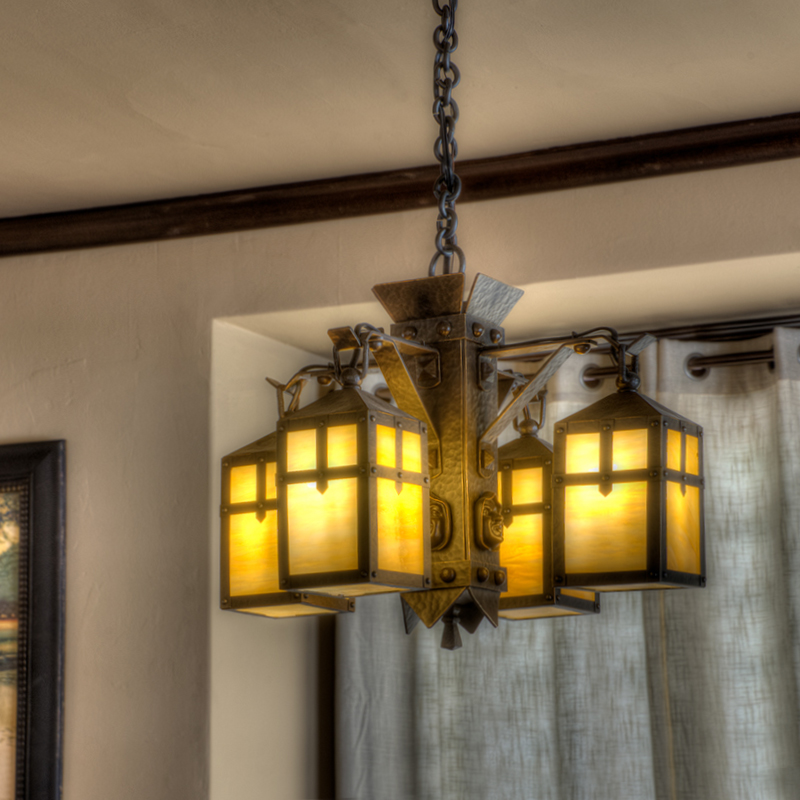 Custom Monk Head Chandelier