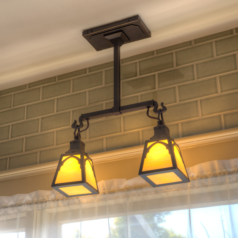 Custom Kitchen Light over Kitchen Sink