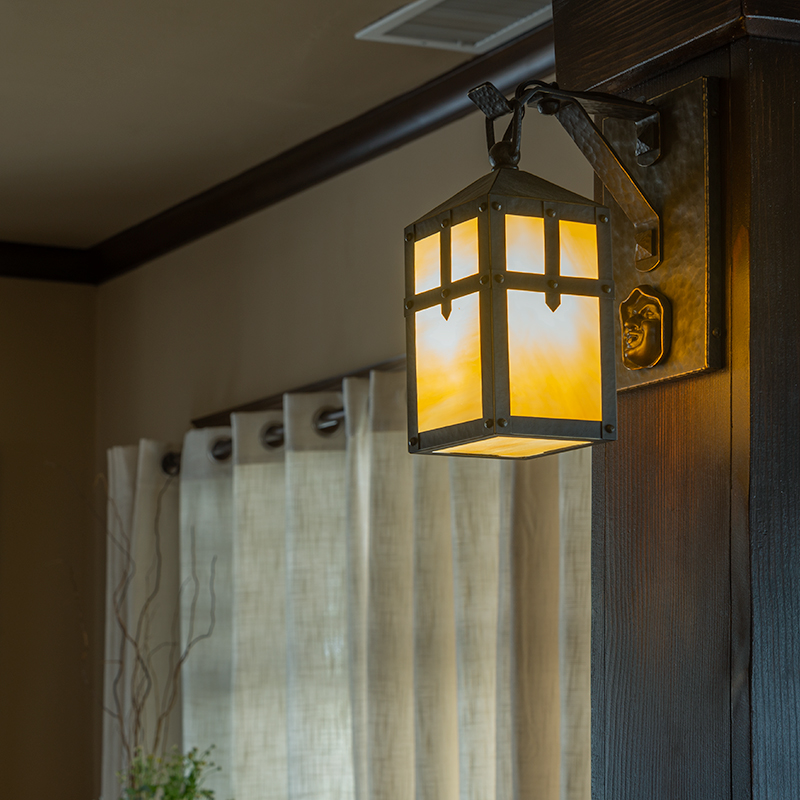 Custom Monk Head Wall Sconce