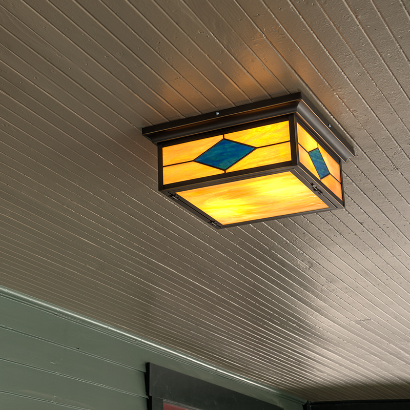 Spring St Porch Ceiling Light
