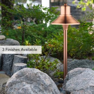 flare top garden light in old penny finish - Garden Lighting