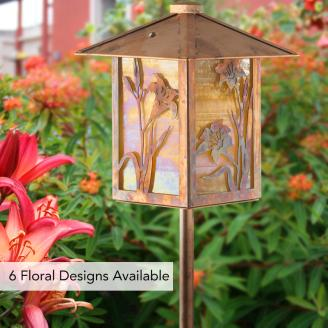 NEW FLOWER GARDEN LANTERN: POST MOUNT