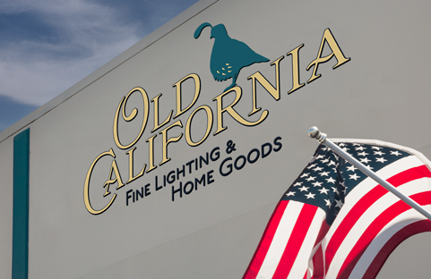 Old California Showroom Sign
