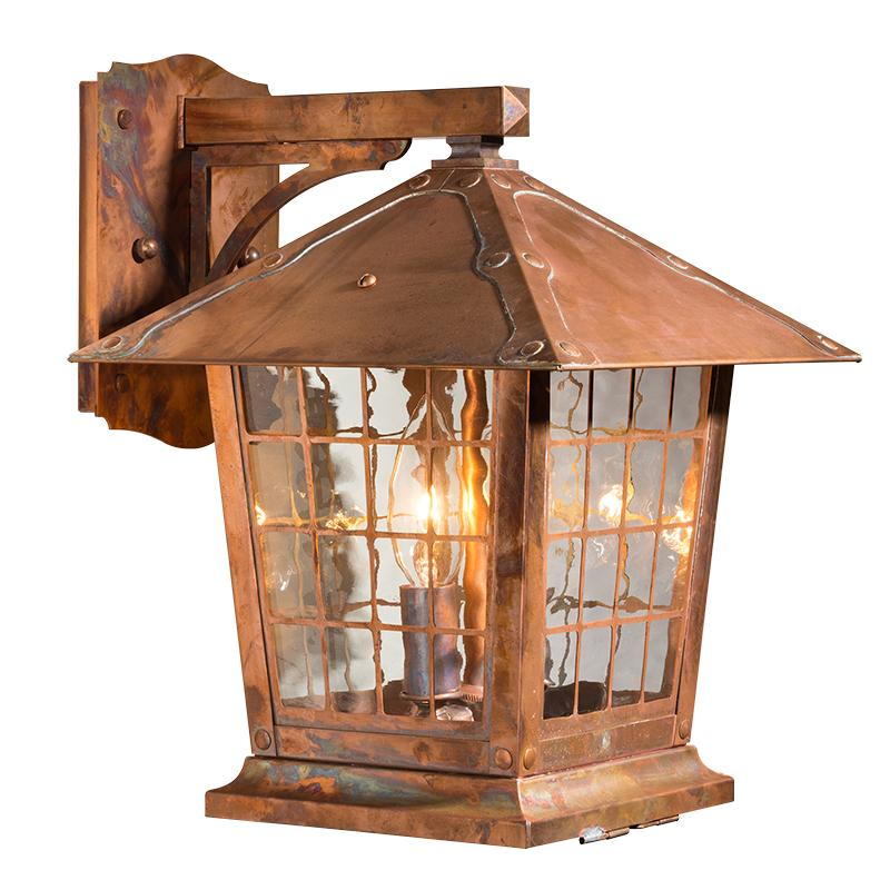 Copper Outdoor Wall Lantern Old California Lighting