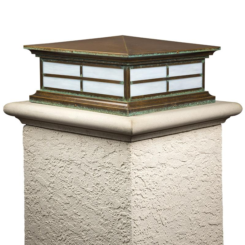 Exterior Column Lights Hampton Series