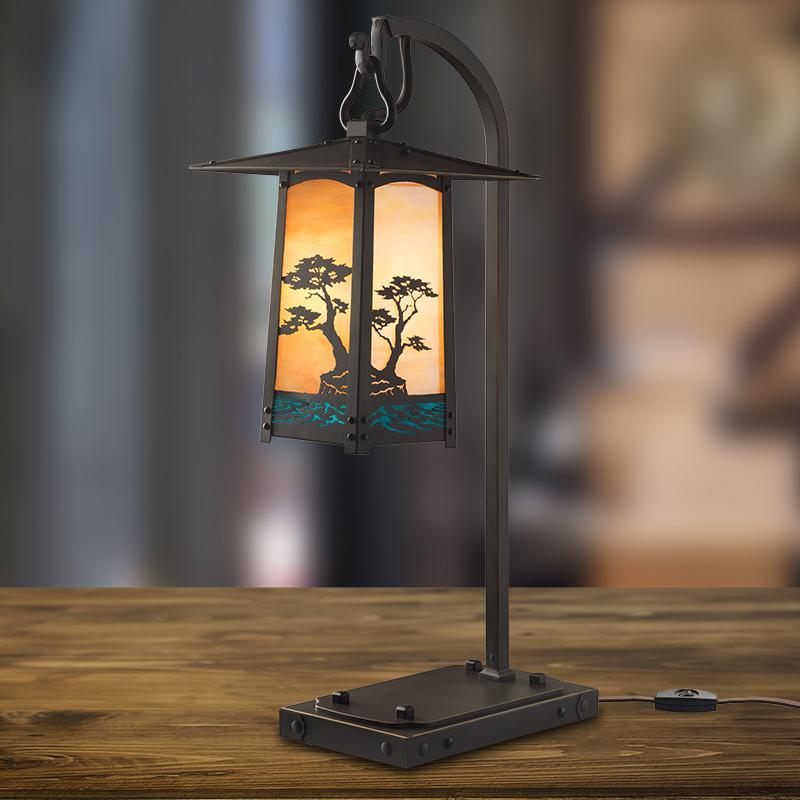 Cobblestone Table Lamp Craftsman Bungalow Cottage