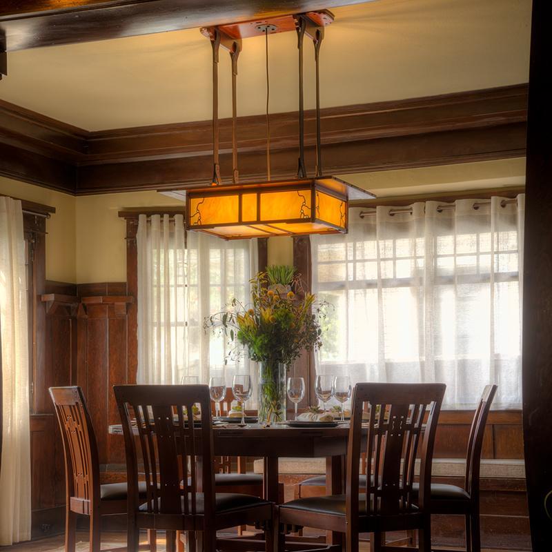 Craftsman Dining Room Chandelier, Craftsman Lighting Dining Room Chandelier